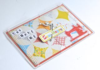 Clear Scraps Send It Clear Card Ruby Rockit Pinky Hobbs Stitched card2