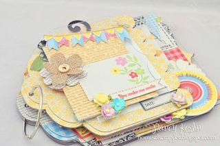 You make me smile_mini album_clear scraps_nancy keslin