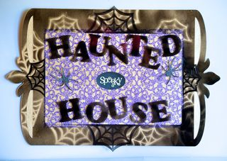 Haunted House Clear Scraps Hallween Craft Pinky Hobbs Home Decor