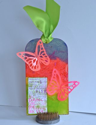 March Clear Scraps Neon Inspiring Tag Pinky Hobbs1