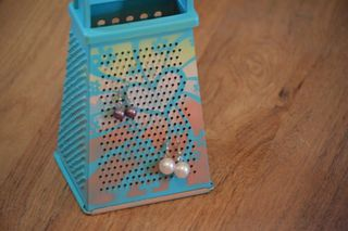 Clear Scraps Stencil Cheese Grater Earring Holder Pinky Hobbs3