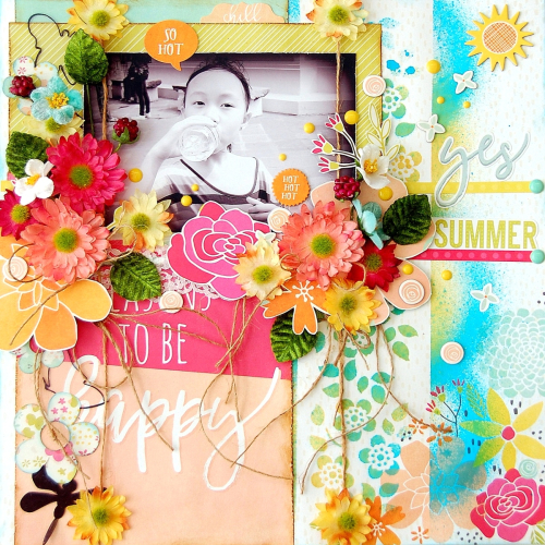 Yes Summer Layout by Irene Tan 01