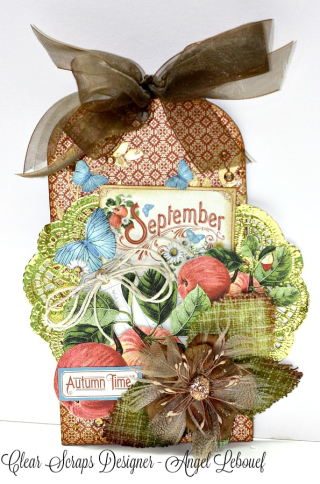 Clear Scraps September Tag Angel LeBouef