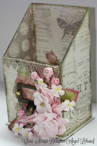 Acrylic Box-Clear Scraps-Angel-1