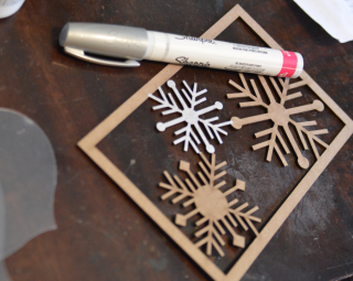 Clear Scraps Ornaments by Pinky Hobbs Sharpie Paint Pen - 1