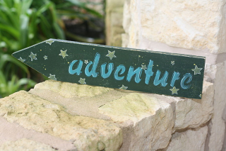Adventure stencil_clear scraps_word stencil_c.mercer