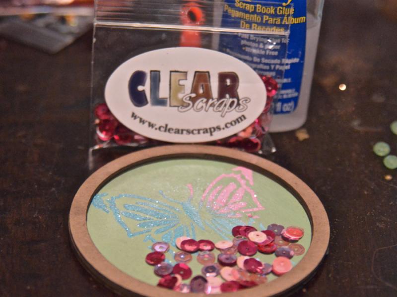 Clear Scraps Butterfly Stencil Modeling Paste Shaker Pinky Hobbs - 6