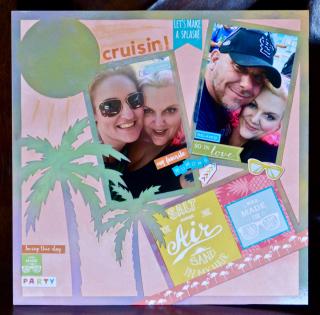 Clear Scraps Acrylic Layout Bahamas Pinky Hobbs - 1