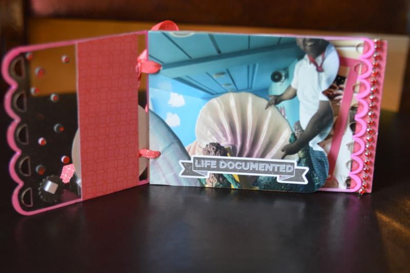 Clear Scraps Mini Album Vacaton Capture This Pinky Hobbs - 2