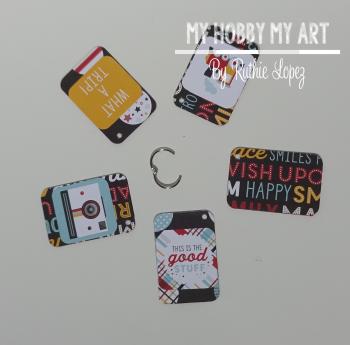 Acrylic tag  Cleear Scraps Kit  Ruthie Lopez. 3