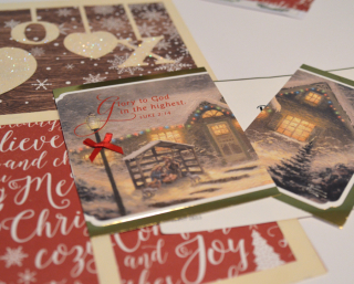 Clear Scraps XOXO Acrylic Holiday Card Layout by Pinky Hobbs - 9