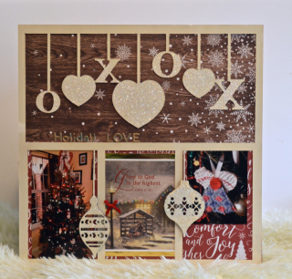 Clear Scraps XOXO Acrylic Holiday Card Layout by Pinky Hobbs - 1