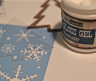 Clear Scraps Holiday Glitter Ornament and Shaker by Pinky - 7