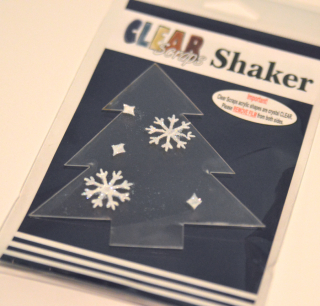 Clear Scraps Holiday Glitter Ornament and Shaker by Pinky - 4