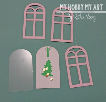 Clear Scraps kit  Shaker Card  December Kit  Ruthie Lopez  My Hobby My Art 2