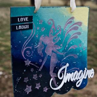Clear Scraps Galaxy Fairy Imagine Board by Pinky Hobbs - 2