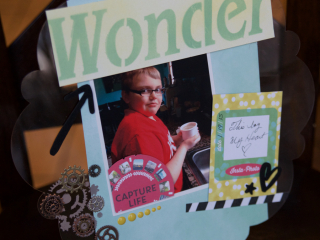 Clear Scraps Boy Wonder Layout by Pinky Hobbs - 2