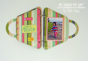 Mini album  Clear Scraps Kits  Ruthie Lopez 6