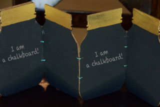 Clear Scraps Mason Jar Wood Shaker Chalkboard by Pinky - 2