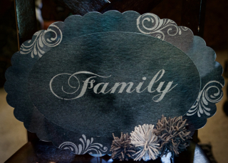 Clear Scraps Family Stenciled XL Frame by Pinky Hobbs - 1
