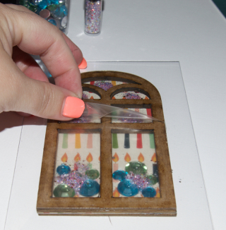 Clear Scraps Shaker Acrylic Card by Pinky - 6