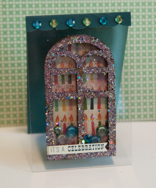 Clear Scraps Shaker Acrylic Card by Pinky - 10