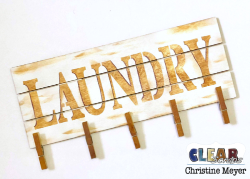 DIY Laundry Wood Pallet Sign