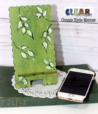 Scallop phone stand1_clear scraps_c.mercer