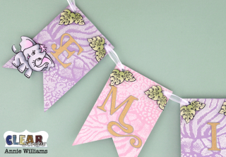 Elephant Baby Banner by Annie Williams for CS - Left