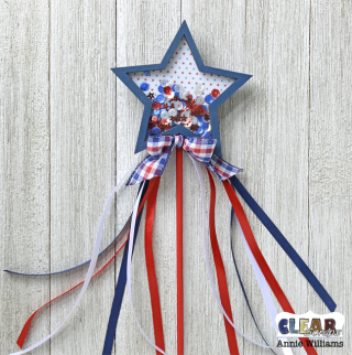 Patriotic Shaker Wand by Annie Williams for CS - Assembled