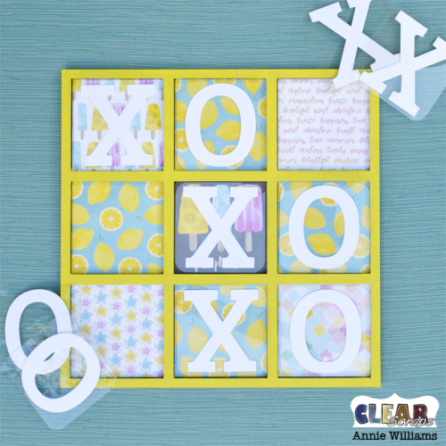 Summer Travel Game Board by Annie Williams for Clear Scraps - Flat