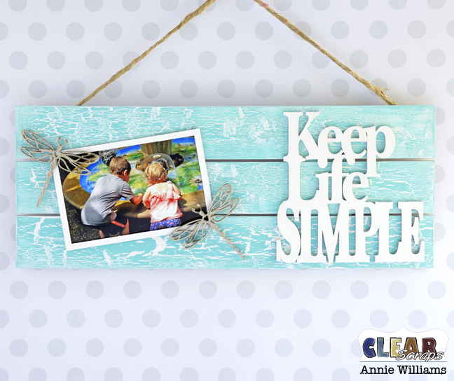 Simple Life Photo Frame Pallet by Annie Williams for Clear Scraps - Main