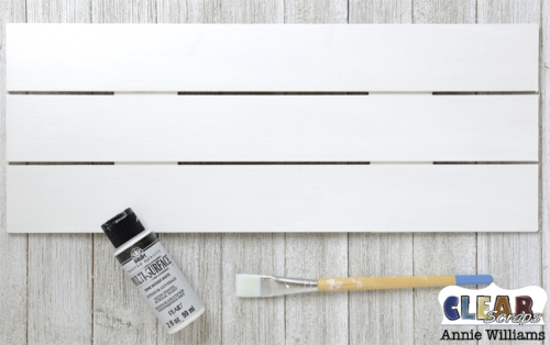 Simple Life Photo Frame Pallet by Annie Williams for Clear Scraps - Basecoat