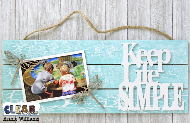 Simple Life Photo Frame Pallet by Annie Williams for Clear Scraps - Embellish