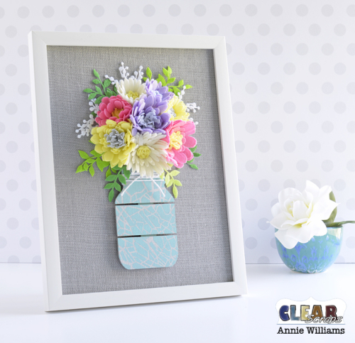 Mason Jar Bouquet Canvas by Annie Williams for CS - Main