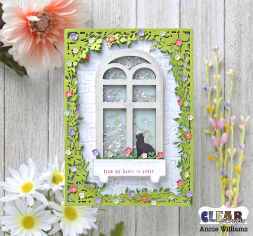 Secret Garden Window Shaker Card by Annie Williams - Main for CS