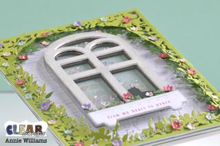 Secret Garden Window Shaker Card by Annie Williams - Detail for CS