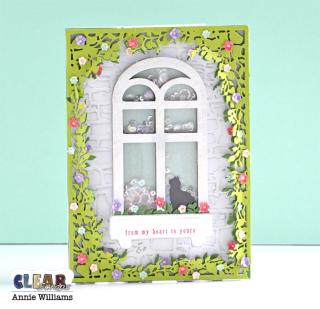 Secret Garden Window Shaker Card by Annie Williams - Full for CS