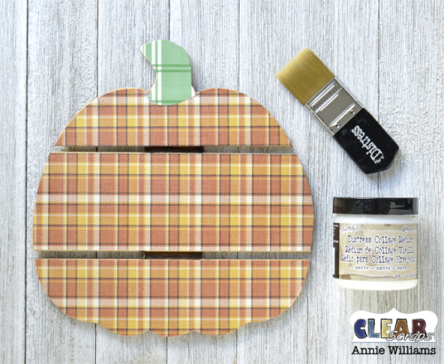 Thankful Pumpkin Pallet by Annie Williams for Clear Scraps - Adhering