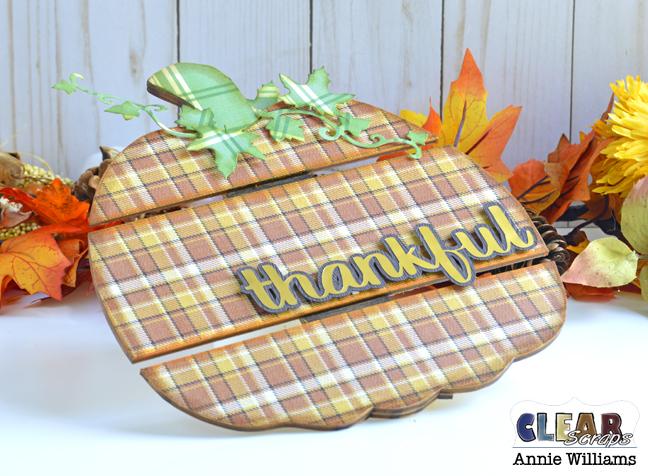 Thankful Pumpkin Pallet by Annie Williams for Clear Scraps - Detail