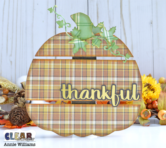 Thankful Pumpkin Pallet by Annie Williams for Clear Scraps - Main