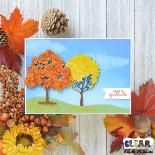 Autumn Thank You Card by Annie Williams for Clear Scraps - Main