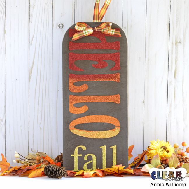 Hello Fall Sign by Annie Williams for Clear Scraps - Main