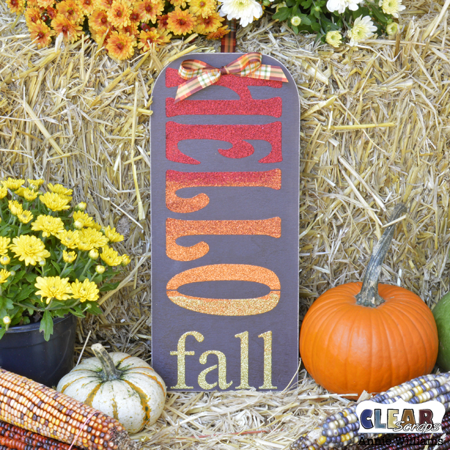 Hello Fall Sign by Annie Williams for Clear Scraps - Main 3