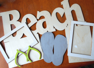 Clear_Scraps_XL Word Frame_Beach Fun close up 1