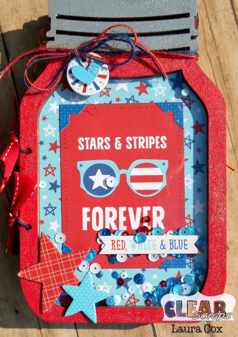 Clear_Scraps_Accordian Shaker Album_Stars & Stripes Mason Jar(2)