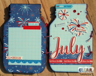 Clear_Scraps_Accordian Shaker Album_Stars&Stripes page 3&4