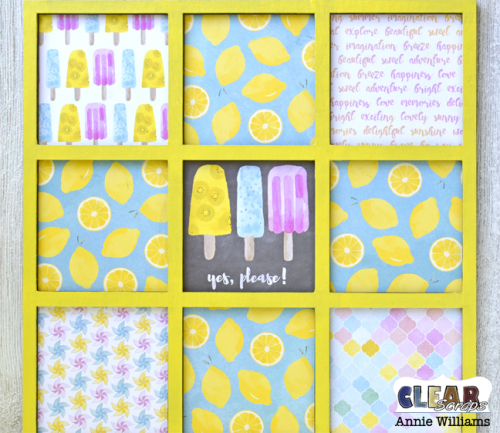 Summer Travel Game Board by Annie Williams for Clear Scraps - Adhere Dividers