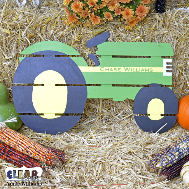 Personalized Tractor Pallet by Annie Williams for Clear Scraps - Main