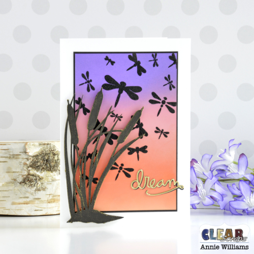 Cattails at Sunset Card by Annie Williams for Clear Scraps - Main